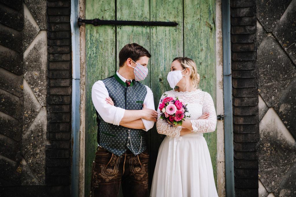 Hochzeit trotz Corona MNS Mask